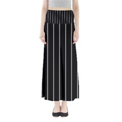 Black and white lines Maxi Skirts