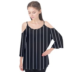 Black and white lines Flutter Tees