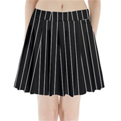 Black and white lines Pleated Mini Skirt