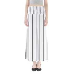 White and black lines Maxi Skirts
