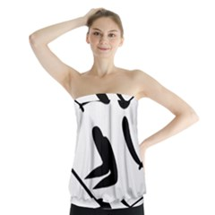 Archery Skiing Pictogram Strapless Top