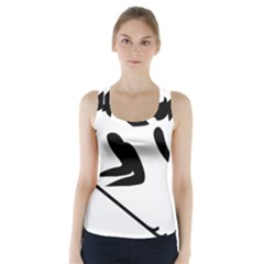 Archery Skiing Pictogram Racer Back Sports Top