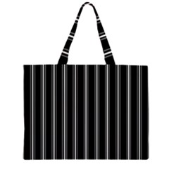 Black and white lines Large Tote Bag