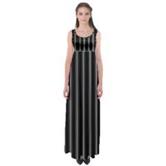 Black And White Lines Empire Waist Maxi Dress