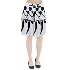 Arnis Pictogram Pleated Skirt
