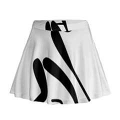 Curling Pictogram  Mini Flare Skirt