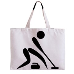 Curling Pictogram  Medium Tote Bag