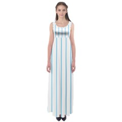 Blue lines Empire Waist Maxi Dress