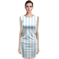 Blue lines Classic Sleeveless Midi Dress