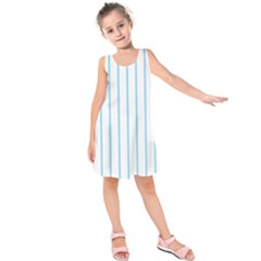 Blue lines Kids  Sleeveless Dress