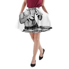 Bruce Lee Dj A-Line Pocket Skirt
