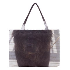Newfoundland Puppy Muddy Medium Tote Bag