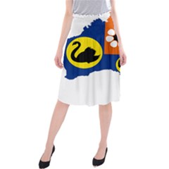 Flag Map of States And Territories of Australia Midi Beach Skirt