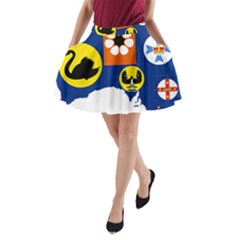 Flag Map of States And Territories of Australia A-Line Pocket Skirt
