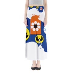 Flag Map Of States And Territories Of Australia Maxi Skirts