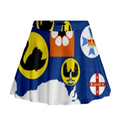 Flag Map of States And Territories of Australia Mini Flare Skirt