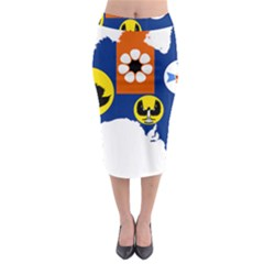 Flag Map of States And Territories of Australia Midi Pencil Skirt