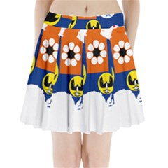 Flag Map of States And Territories of Australia Pleated Mini Skirt