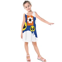 Flag Map of States And Territories of Australia Kids  Sleeveless Dress