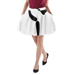 Artistic Roller Skating Pictogram A-Line Pocket Skirt