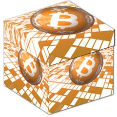 Network Bitcoin Currency Connection Storage Stool 12