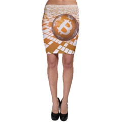 Network Bitcoin Currency Connection Bodycon Skirt