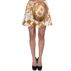 Network Bitcoin Currency Connection Skater Skirt