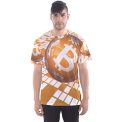 Network Bitcoin Currency Connection Men s Sport Mesh Tee
