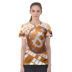 Network Bitcoin Currency Connection Women s Sport Mesh Tee