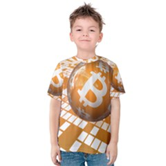 Network Bitcoin Currency Connection Kids  Cotton Tee