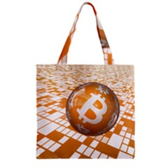 Network Bitcoin Currency Connection Grocery Tote Bag