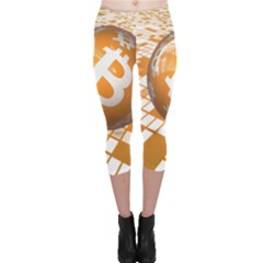Network Bitcoin Currency Connection Capri Leggings