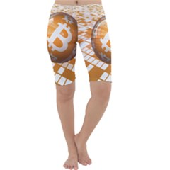 Network Bitcoin Currency Connection Cropped Leggings