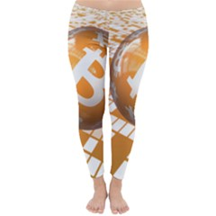 Network Bitcoin Currency Connection Classic Winter Leggings