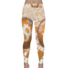 Network Bitcoin Currency Connection Classic Yoga Leggings