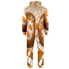 Network Bitcoin Currency Connection Hooded Jumpsuit (Men)