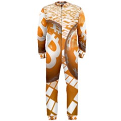 Network Bitcoin Currency Connection Onepiece Jumpsuit (men)