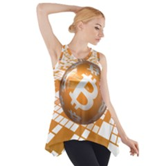 Network Bitcoin Currency Connection Side Drop Tank Tunic