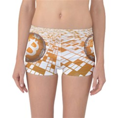 Network Bitcoin Currency Connection Reversible Bikini Bottoms