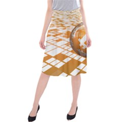 Network Bitcoin Currency Connection Midi Beach Skirt