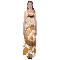 Network Bitcoin Currency Connection Empire Waist Maxi Dress