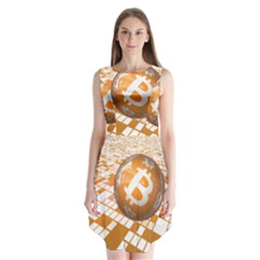 Network Bitcoin Currency Connection Sleeveless Chiffon Dress