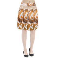 Network Bitcoin Currency Connection Pleated Skirt
