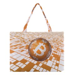 Network Bitcoin Currency Connection Medium Tote Bag