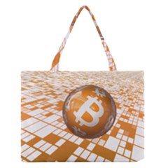 Network Bitcoin Currency Connection Medium Zipper Tote Bag