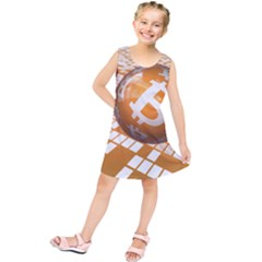 Network Bitcoin Currency Connection Kids  Tunic Dress