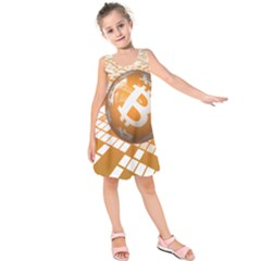 Network Bitcoin Currency Connection Kids  Sleeveless Dress
