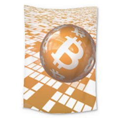 Network Bitcoin Currency Connection Large Tapestry