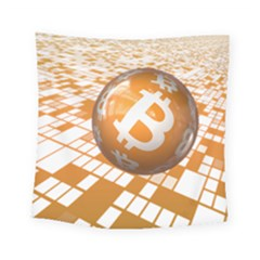 Network Bitcoin Currency Connection Square Tapestry (small)