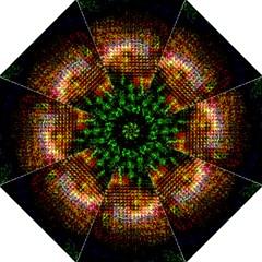 Radar Kaleidoscope Pattern Hook Handle Umbrellas (large)